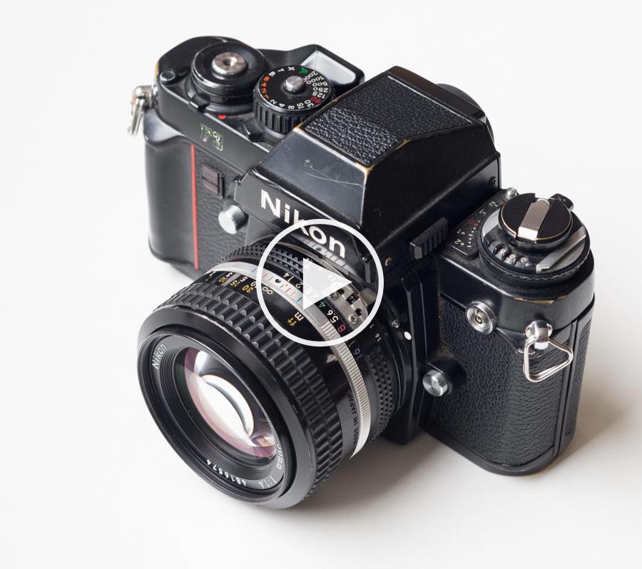 360°-Objekt Nikon F3 mit Nikkor 1.4/50mm | Flash