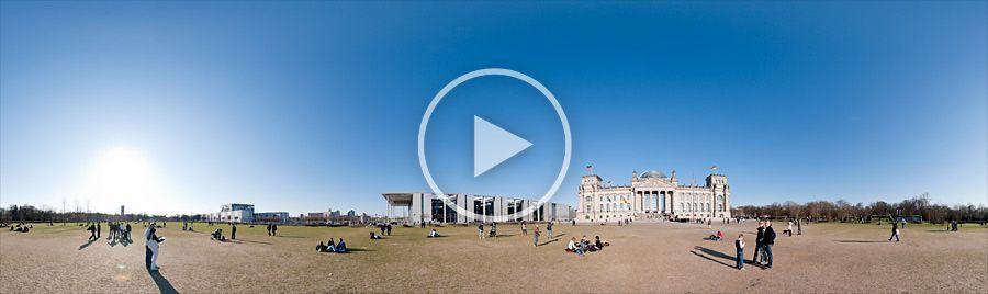 Platz der Republik - Paul-Löbe-Haus und Reichstagsgebäude - Panorama #12 | 04.2010