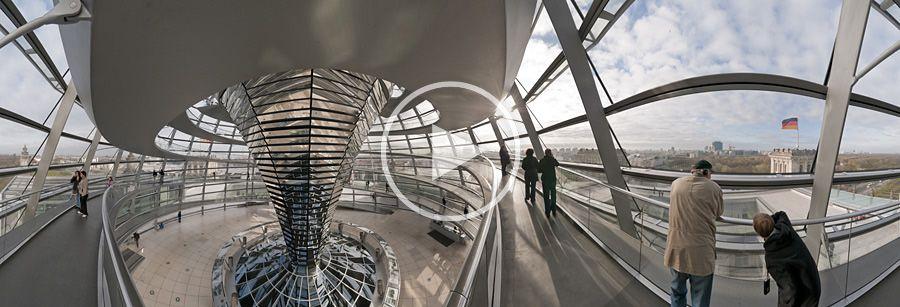 Aufgang in der Kuppel des Reichstagsgebäudes - Panorama #1 | 04.2010