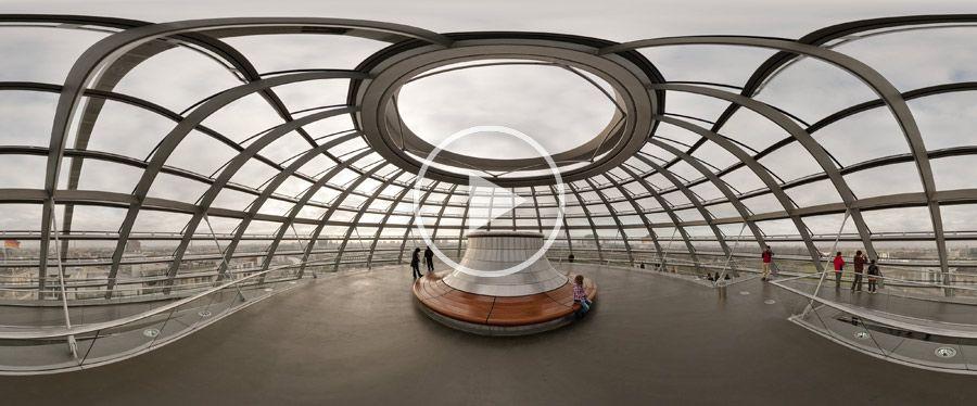 Reichstagsgebäude Kuppel Aussichtsplattform 360°