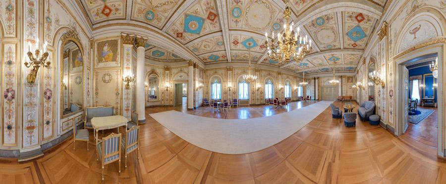 Hessischer Landtag - Musiksaal im Stadtschloss Wiesbaden - 360°x 180° Panorama
