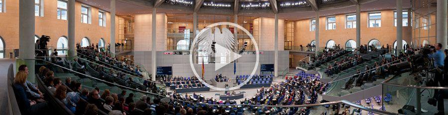 Generalaussprache über den Etat des Bundeskanzleramtes – Bundeskanzlerin Merkel – 170°-Panorama #12