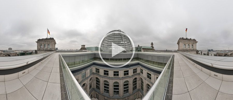 Reichstagsgebäude Dachterasse Innenhof 360° | 04.2010