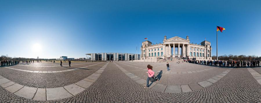 Platz der Republik vor dem Reichstagsgebäude und Paul-Löbe-Haus