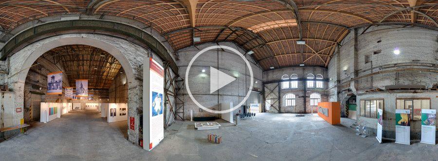 360°x180°-Panorama - Henrichshütte Kunstausstellung Stadt-Raum-Kunst Görlitz-Zgorzelec #1 | 05.2013