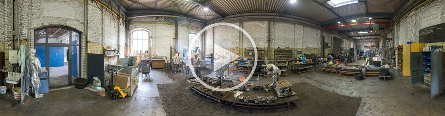 Aluminium Schaugiessen - 360°x180°-Panorama