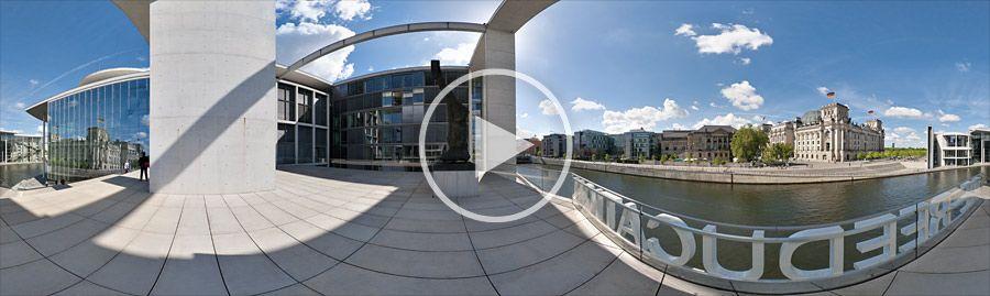 Liegenschaften des Deutschen Bundestages in Berlin an der Spree - Panorama #2