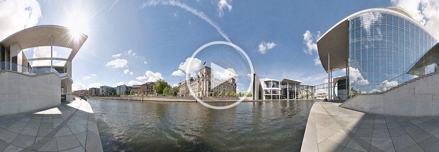 Liegenschaften des Deutschen Bundestages in Berlin an der Spree - Panorama #3