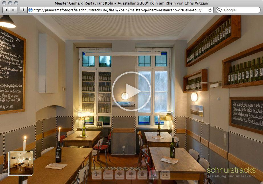 Virtuelle Tour Meister Gerhard Restaurant Köln mit klickbaren Exponaten | 06.2012