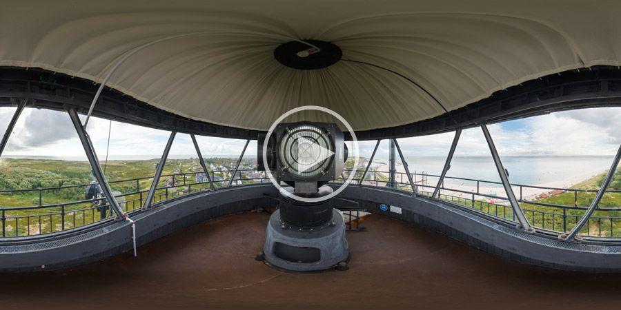 360°x180°-Panorama - Drehspiegelfeuer im Leuchturm von Hörnum auf Sylt