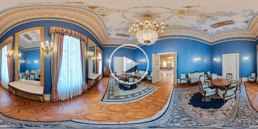 360°x180°-Panorama Kabinettzimmer im Stadtschloss Wiesbaden | 04.2014