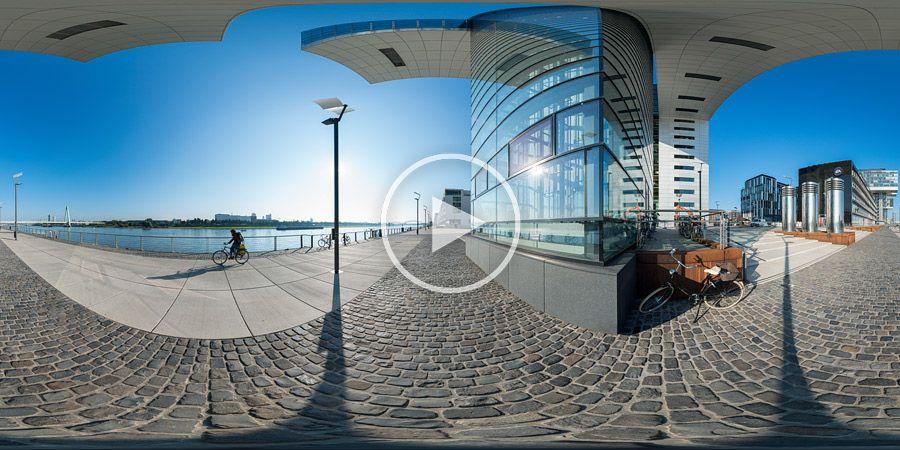 Kranhäuser Panorama 360°x180°-Panorama - Kranhaus Süd am Rheinauhafen in Köln #4