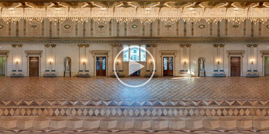 360°x180°-Panorama Kuppelsaal im Stadtschloss Wiesbaden | 04.2014