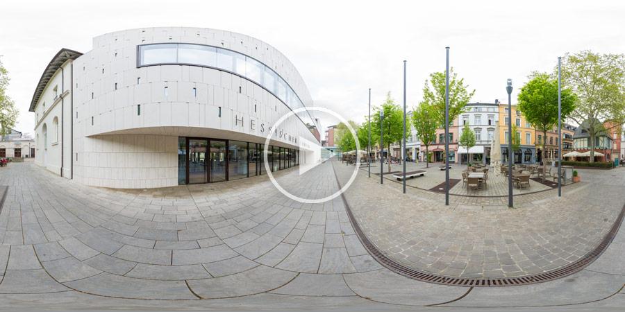 Eingang zum Hessischer Landtag Panoramafotografie