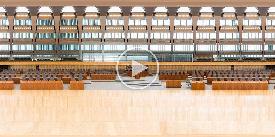 360°x180°-Panorama Plenarsaal Landtag NRW in Düsseldorf