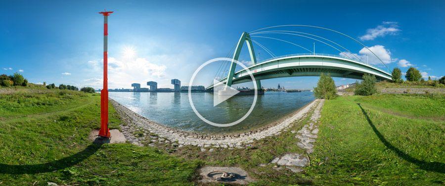 360°x180°-Panorama - Severinsbrücke in Köln #4 | 10.2013