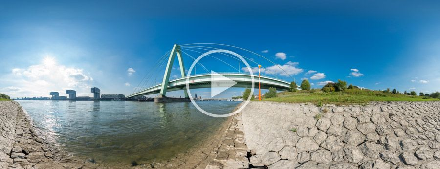 360°x180°-Panorama - Severinsbrücke in Köln #5 | 10.2013