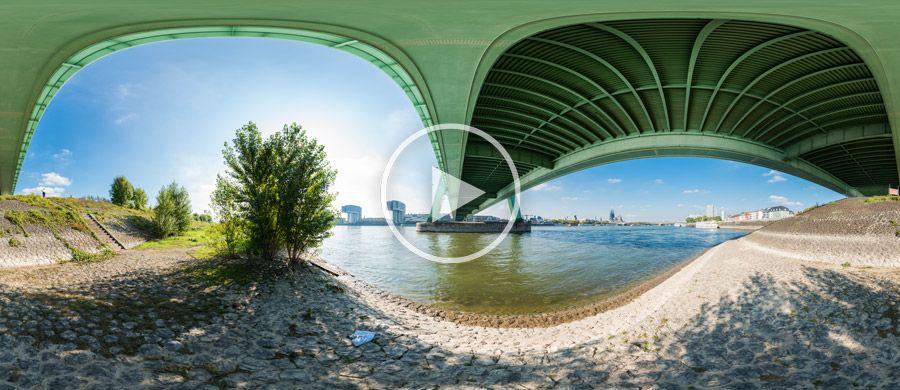 360°x180°-Panorama - Unter der Severinsbrücke in Köln #2 | 10.2013