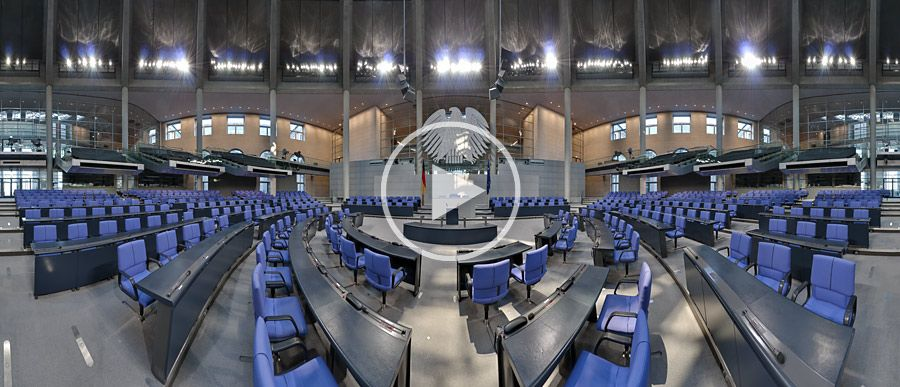 Plenarsaal des Deutschen Bundestages Panorama #1 | 04.2010