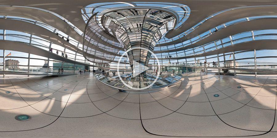 Unten in der Kuppel des Reichstagsgebäudes - Panorama #4 | 04.2010