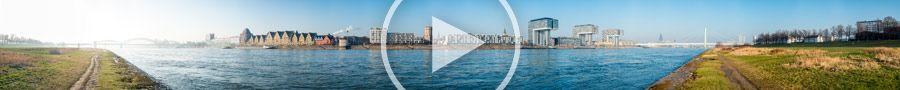 270°-Panorama - Kölnpanorama mit Rheinauhafen und Poller Wiesen | 500 Megapixel | 01.2014