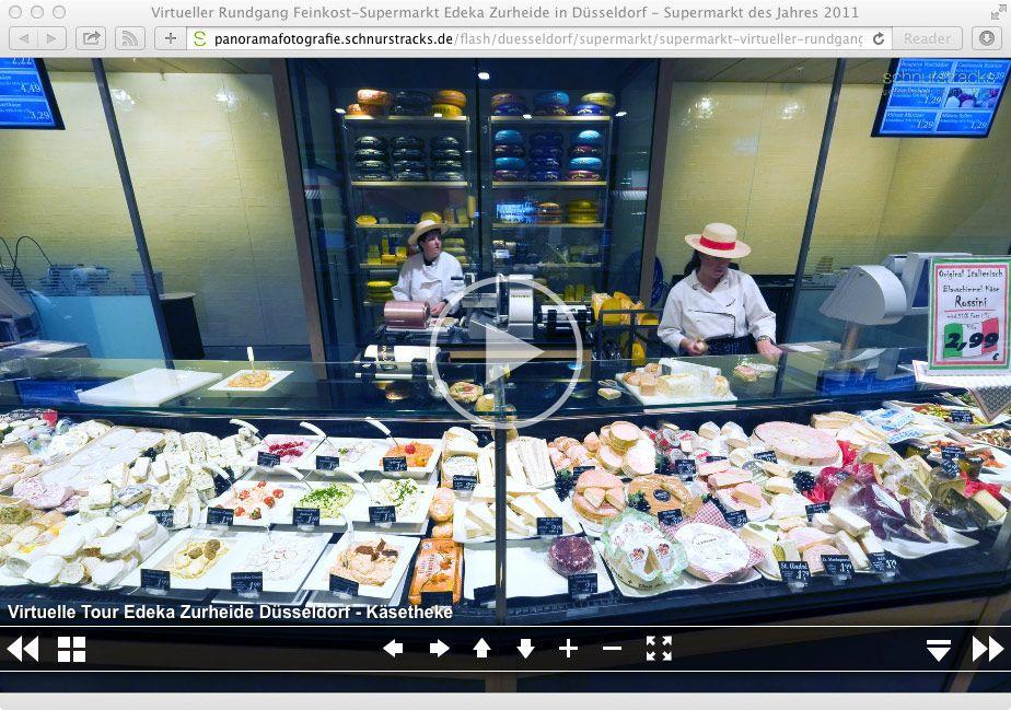 Virtueller Rundagng Edeka zur Heide Supermarkt in Düsseldorf