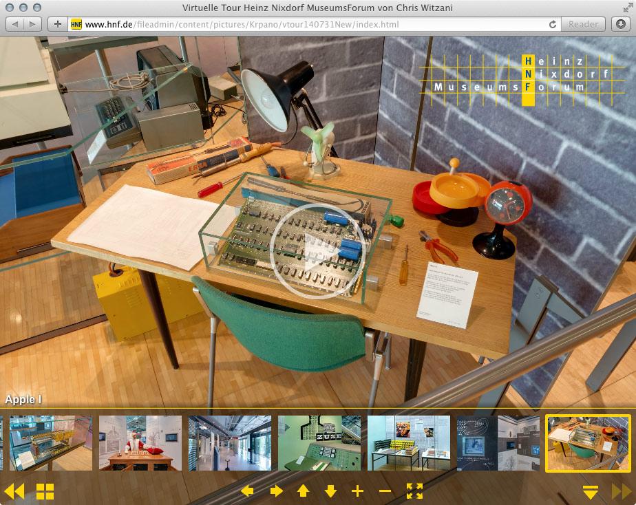 Virtuelle Tour Computermuseum in Paderborn | 07.2014-2017 | HTML5-kompatibel