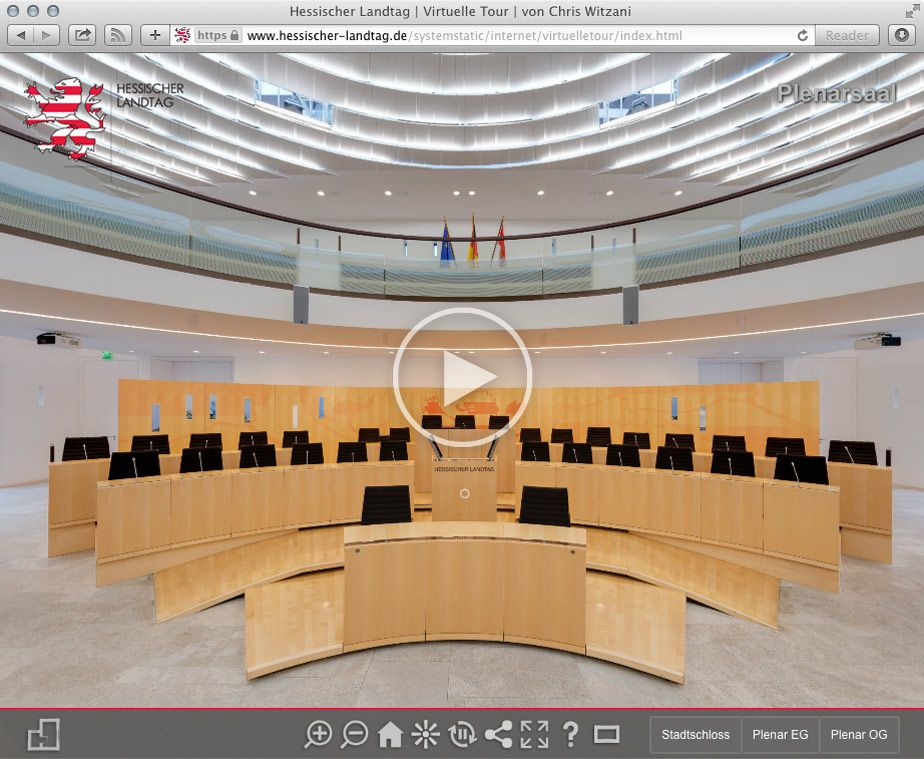 Virtuelle Tour Landtag Hessen in Wiesbaden | 04.2014 | update 2016: Virtual Reality