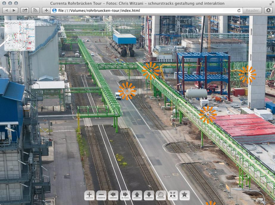 Virtueller Rungang Rohrbrückenstrecke