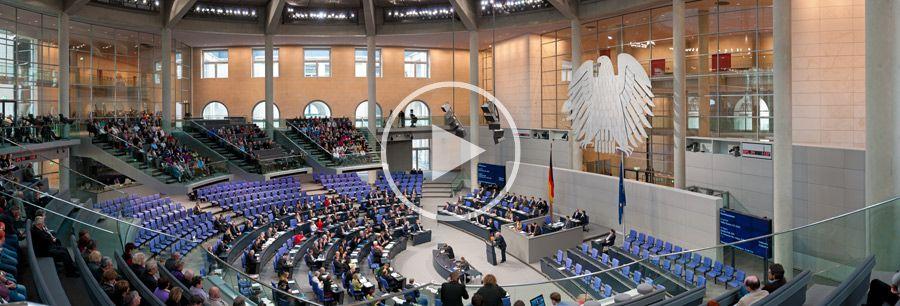 Generalaussprache über den Etat des Bundeskanzleramtes - Redner: Volker Kauder - CDU - 150° - Pano #27 | 28.800 x 9.800 px | 11.2011