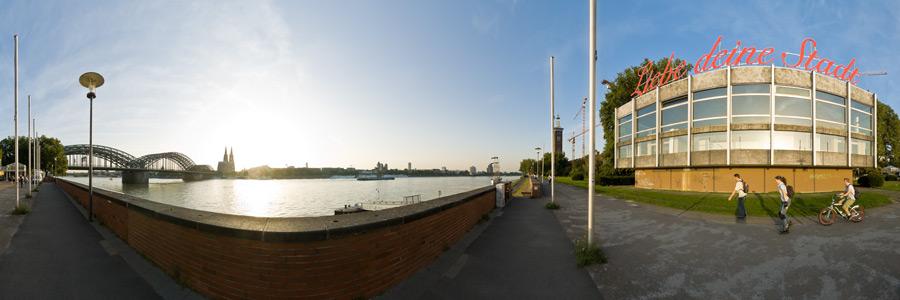Liebe deine Stadt - Panoramapavillon am Rhein in Köln