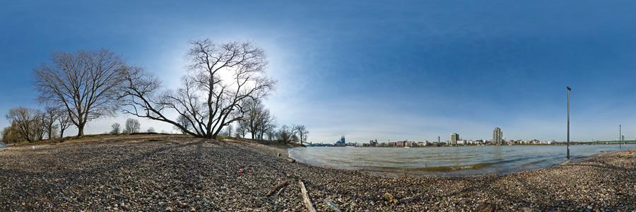 Rheinufer Köln Rheinpark