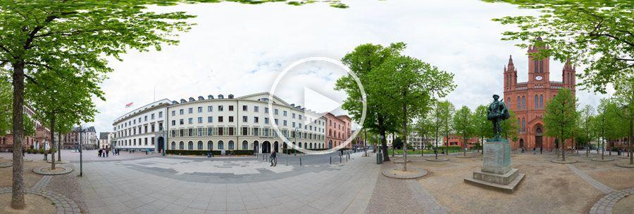 Hessischer Landtag - Eingang Kavalierhaus - 360°x 180° Panorama