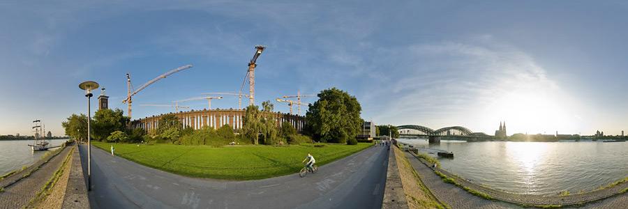 Panorama Spätsommer am Rhein