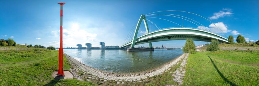 Panoramafotografie an der Severinsbrücke in Köln