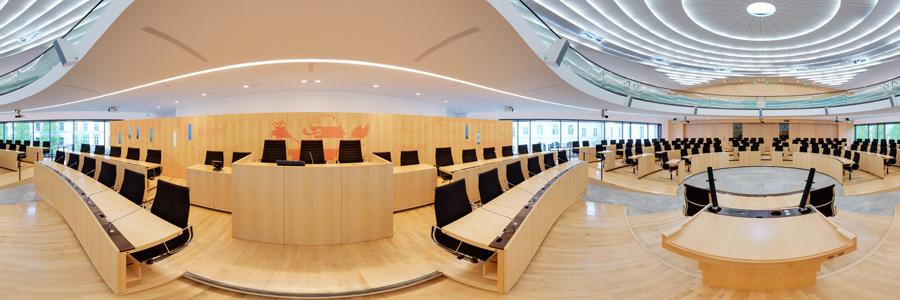 Hessischer Landtag - Plenarsaal Redepult - 360°x 180° Panorama