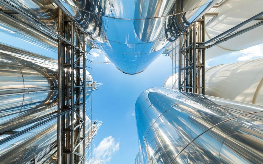 Biodiesel in Tanks (Ausschnitt aus dem Kugelpanorama)
