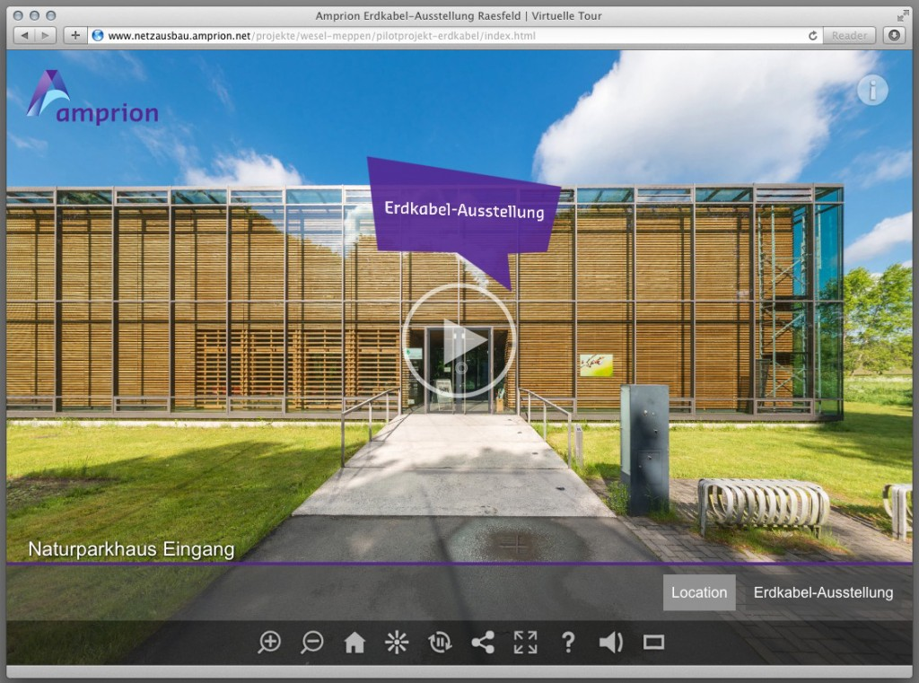 360° Panoramamfotografien der Ausstellung zum Erdkabel-Pilotprojekt in Raesfeld
