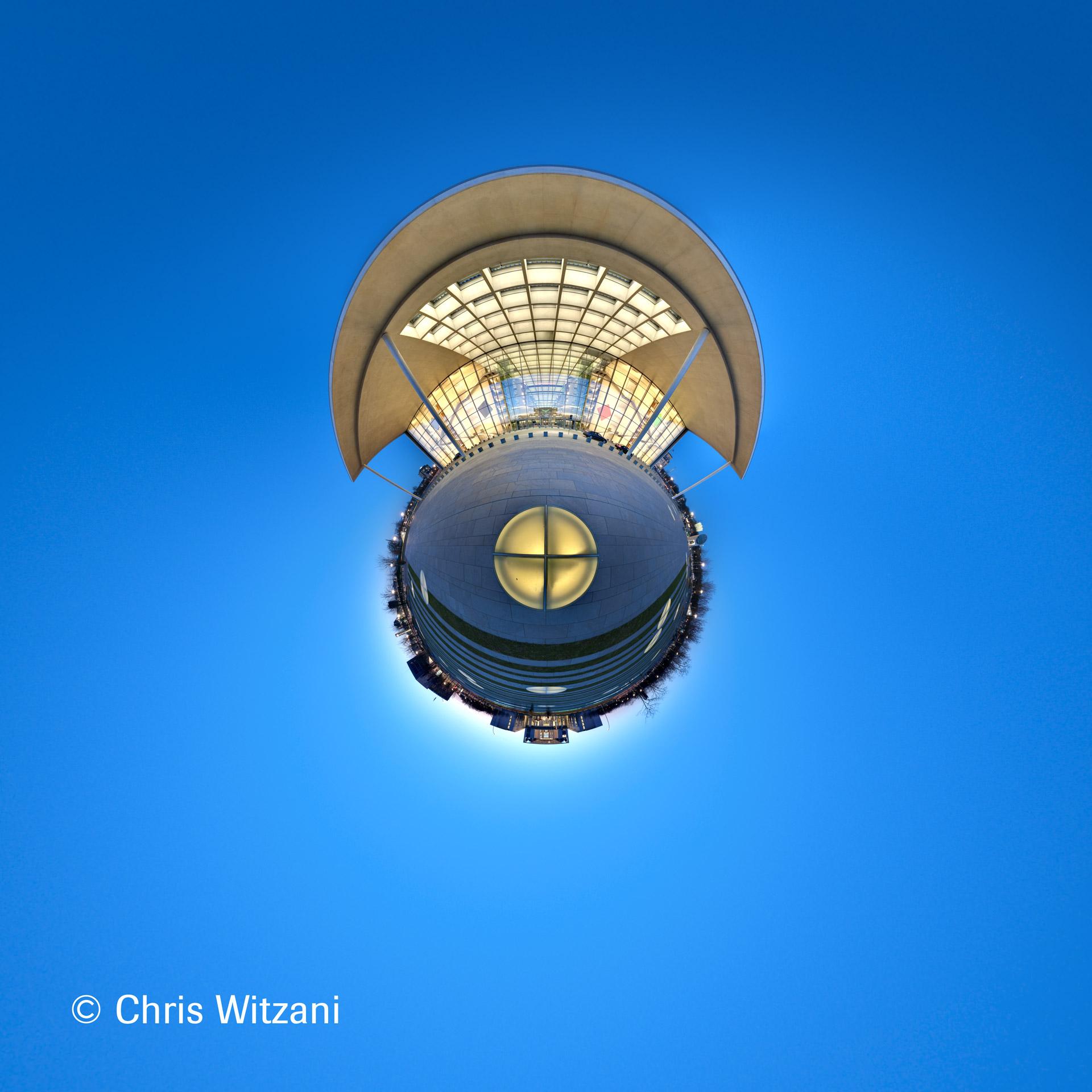 360°-Panorama vom Paul-Löbe-Haus in der späten Dämmerung am 07.04.10