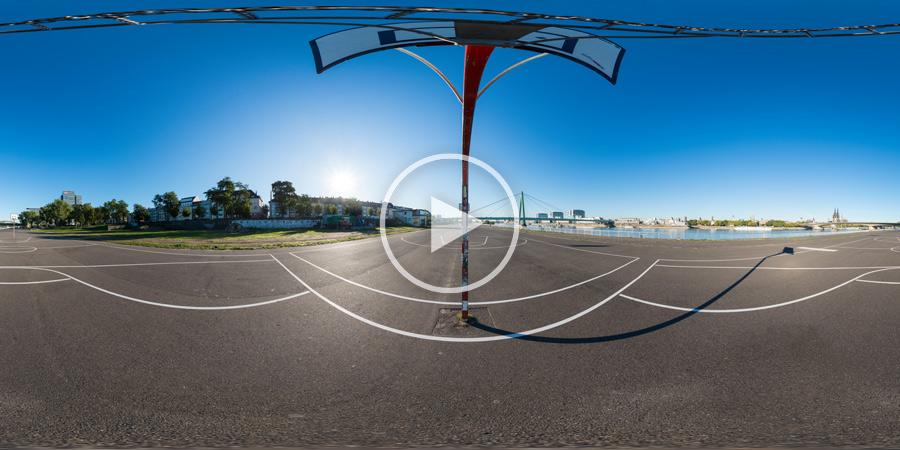 Basketballplatz Köln am Rhein in 360°