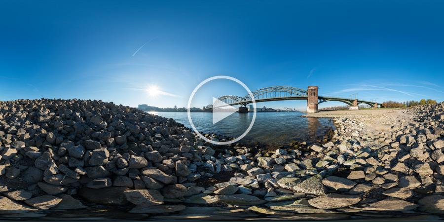 Die Kölner Südbrücke im sonnigen Herbst #08 | 360°x180°-Panorama