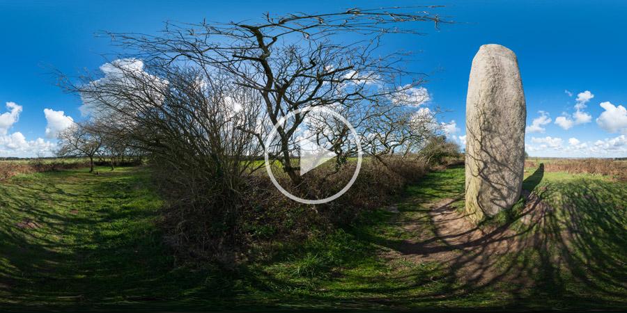Menhir von Kerloas | Bretagne | Kugelpanorama