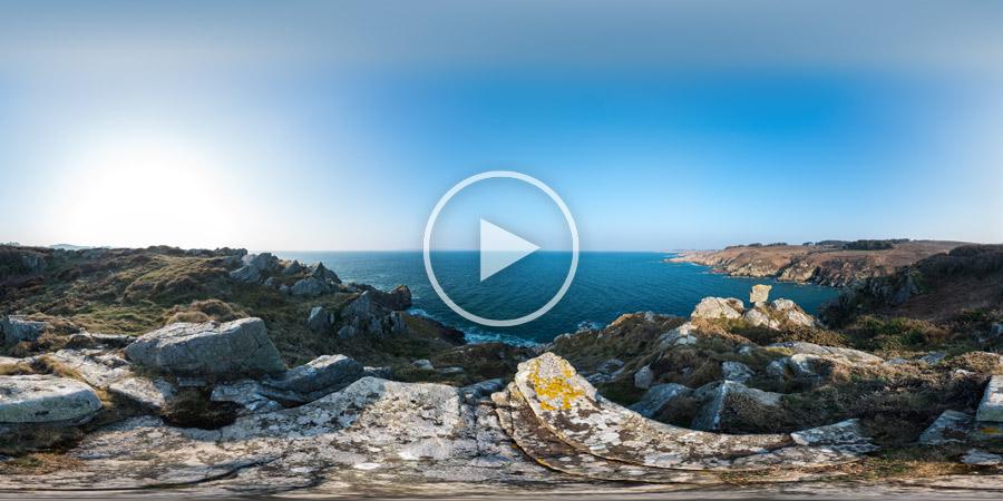 Pointe de Beuzec / Kastel Koz | Kugelpanorama 360°x180° | 03.2016
