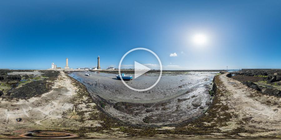 Pointe de Penmarc'h avec Sémaphore, Vieille Tour et Phare d'Eckmühl | Panorama #4799 | 03.2016