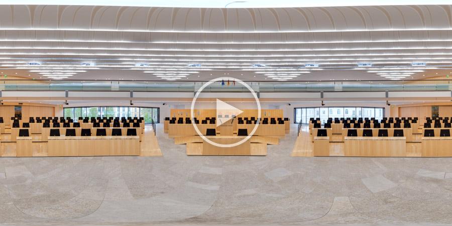 360°x180°-Panorama vom Plenarsaal des Hessischen Landtags in Wiesbaden 2014