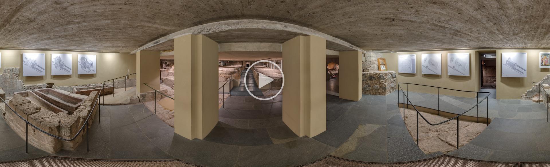 Ausgrabung unter dem Kölner Dom Kugelpanorama