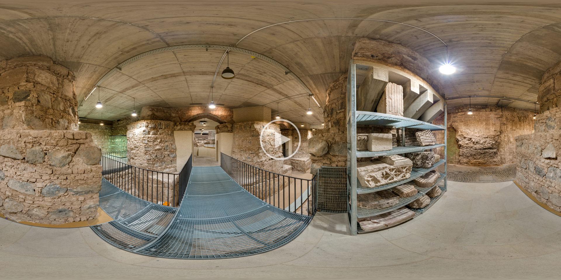 Ausgrabung unter dem Kölner Dom | Panoramafoto von Chris Witzani