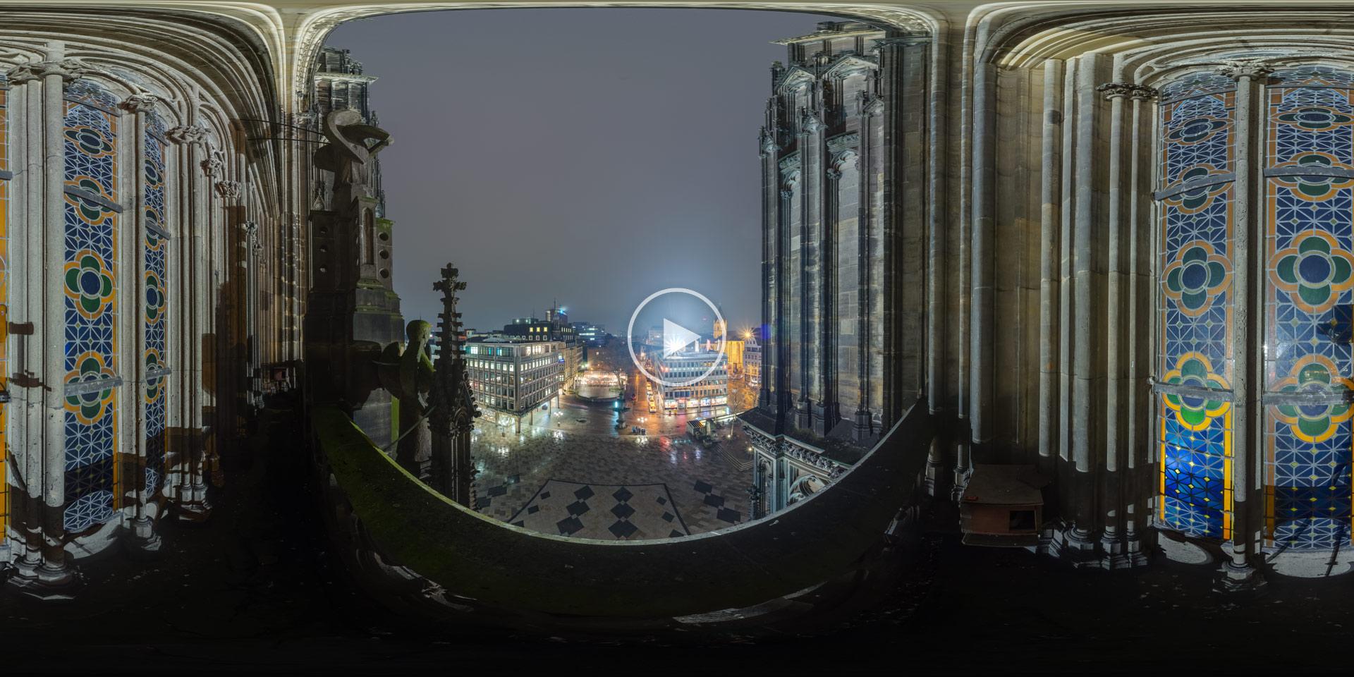 Balkon am Kölner Dom 360°x180° Panorama von Chris Witzani