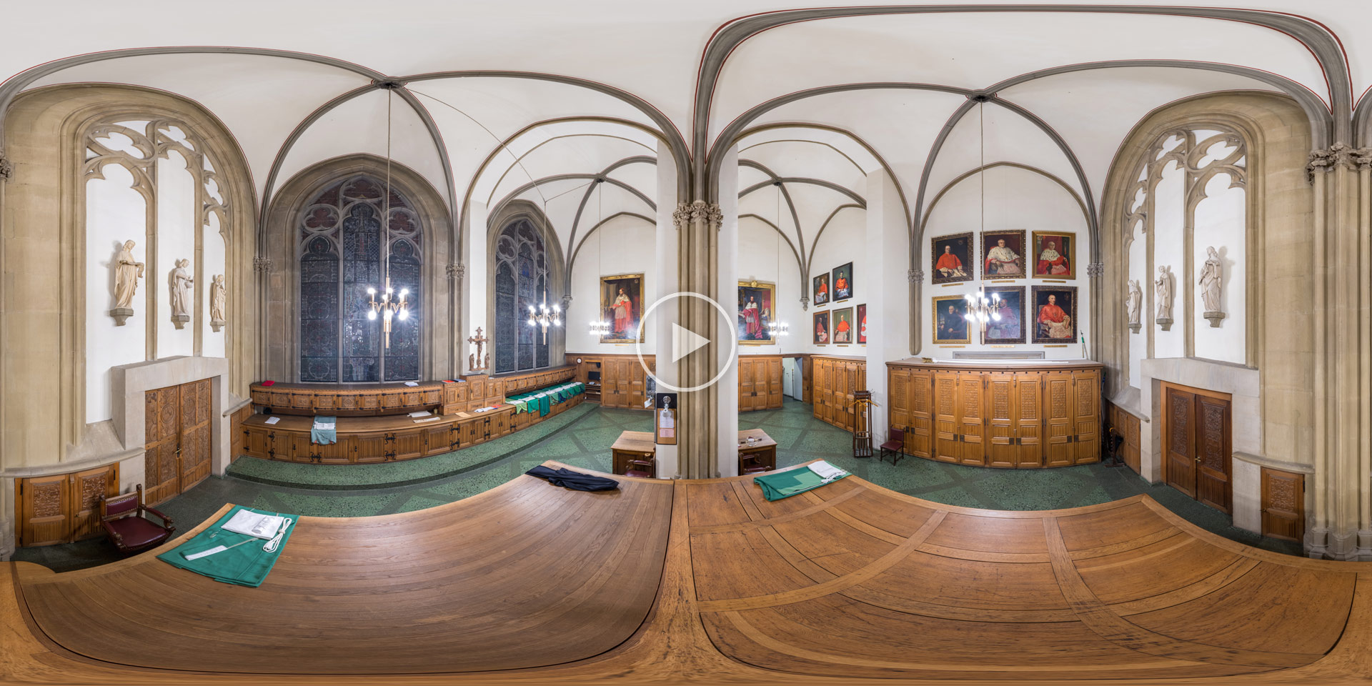 Sakristei im Kölner Dom – 360°x180° Panorama