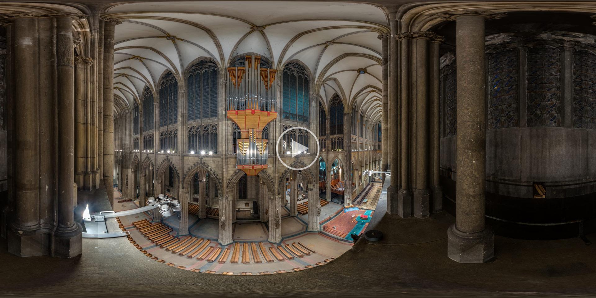 Blick vom Triforium im Kölner Dom